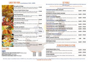 The Good Stuff Caribbean Food Menu Reverse
